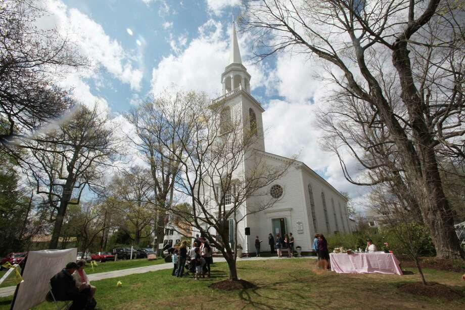 The Greenfield Hill Church celebrated its 79 Dogwood Festival in Fairfield, Conn. on Sunday, May 4, 2014. The Dogwoods did not cooperate and have yet to bloom. Photo: BK Angeletti, B.K. Angeletti / Connecticut Post freelance B.K. Angeletti