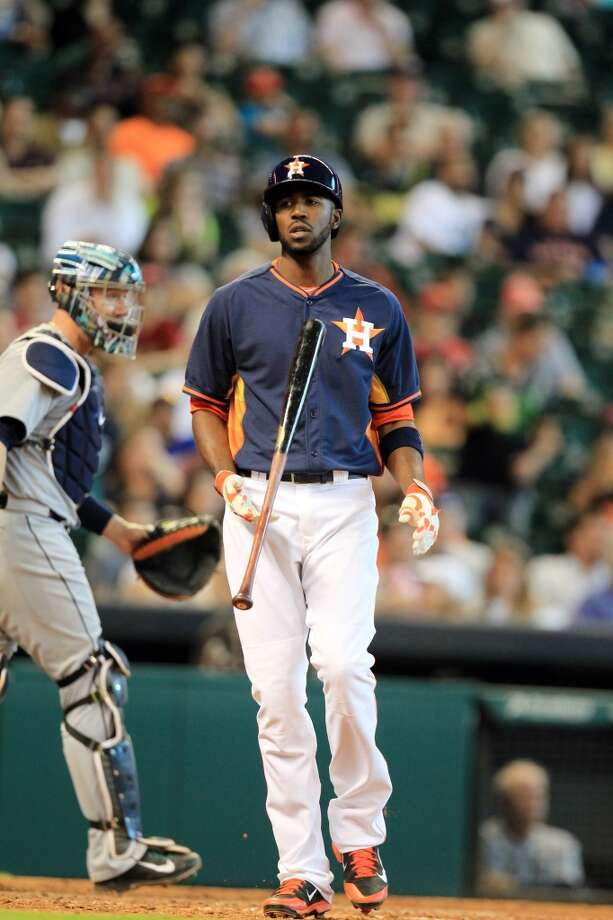 May 4: Mariners 8, Astros 7  Dexter Fowler strikes out. Photo: Mayra Beltran, Houston Chronicle