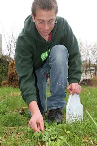 James Piambino, Cobleskill, tests the soils. (Submitted by Mike McCagg)