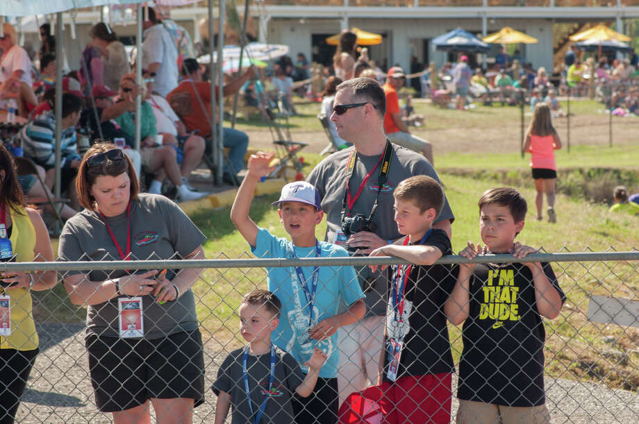 People gathered to watch the The Thunder on the Neches race Sunday during the Port Neches Riverfest. Photograph by Michael Reed. Photo: Michael Reed / Michael Reed