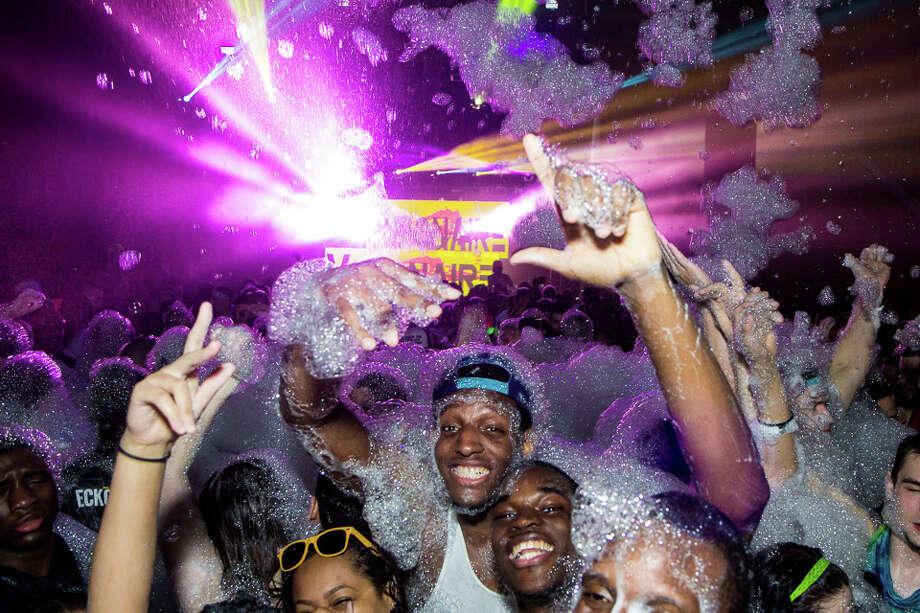 """Were You Seen at Foam N' Glow """"World's Largest Foam Party"""" at the Washington Avenue Armory in Albany on Friday, May 2, 2014? Photo: Brian Tromans"""