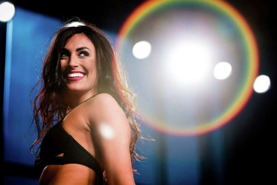 Bianca whips around to face the judges at the conclusion of her performance at the final audition for the 2014 Sea Gals squad Sunday at CenturyLink Field in Seattle. Final auditions included individual and group performances, along with a kick line section. Photo: JORDAN STEAD, SEATTLEPI.COM / SEATTLEPI.COM