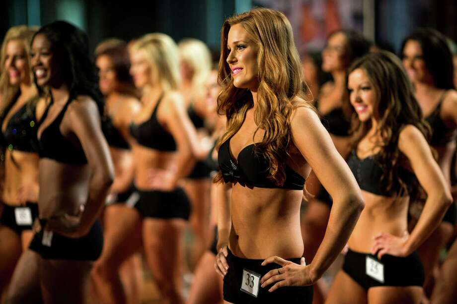 The top 55 candidates from an original pool of 200 women danced it out for the chance to be one of 32 final squamates for the 2014 Sea Gals squad Sunday at CenturyLink Field in Seattle. Final auditions included individual and group performances, along with a kick line section. Photo: JORDAN STEAD, SEATTLEPI.COM / SEATTLEPI.COM