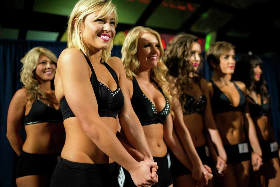 Contestants take to the stage to hear the results of the final audition for the 2014 Sea Gals squad Sunday at CenturyLink Field in Seattle. Final auditions included individual and group performances, along with a kick line section. Photo: JORDAN STEAD, SEATTLEPI.COM / SEATTLEPI.COM