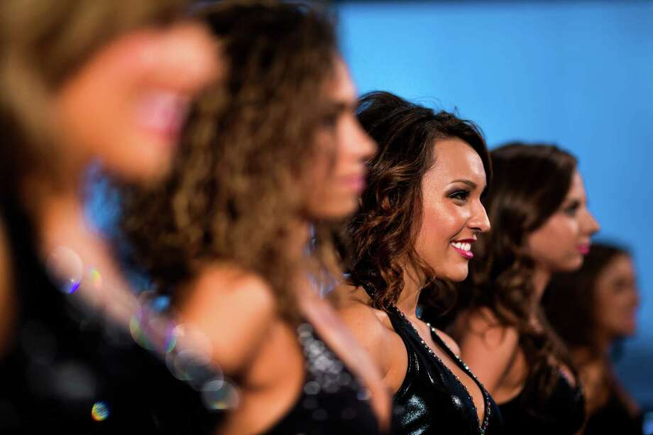 Contestants await their chance to perform during the final audition for the 2014 Sea Gals squad Sunday at CenturyLink Field in Seattle. Final auditions included individual and group performances, along with a kick line section. Photo: JORDAN STEAD, SEATTLEPI.COM / SEATTLEPI.COM