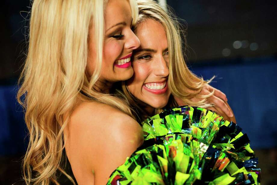 Finalists react to being selected for the 2014 Sea Gals squad Sunday at CenturyLink Field in Seattle. Final auditions included individual and group performances, along with a kick line section. Photo: JORDAN STEAD, SEATTLEPI.COM / SEATTLEPI.COM