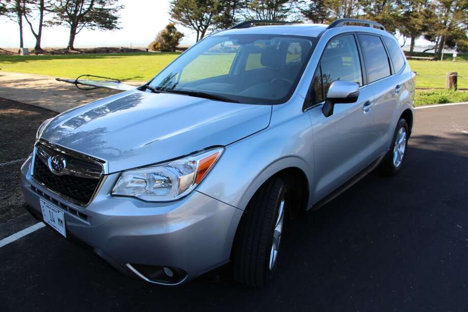 The 2014 Forester is Subaru's smallish crossover SUV that competes with the Honda CR-V, Mazda CX-5 and Nissan Rogue. It is a pretty square little wagon that is meant to haul five people and a fair amount of luggage.  (All photos by Michael Taylor.)