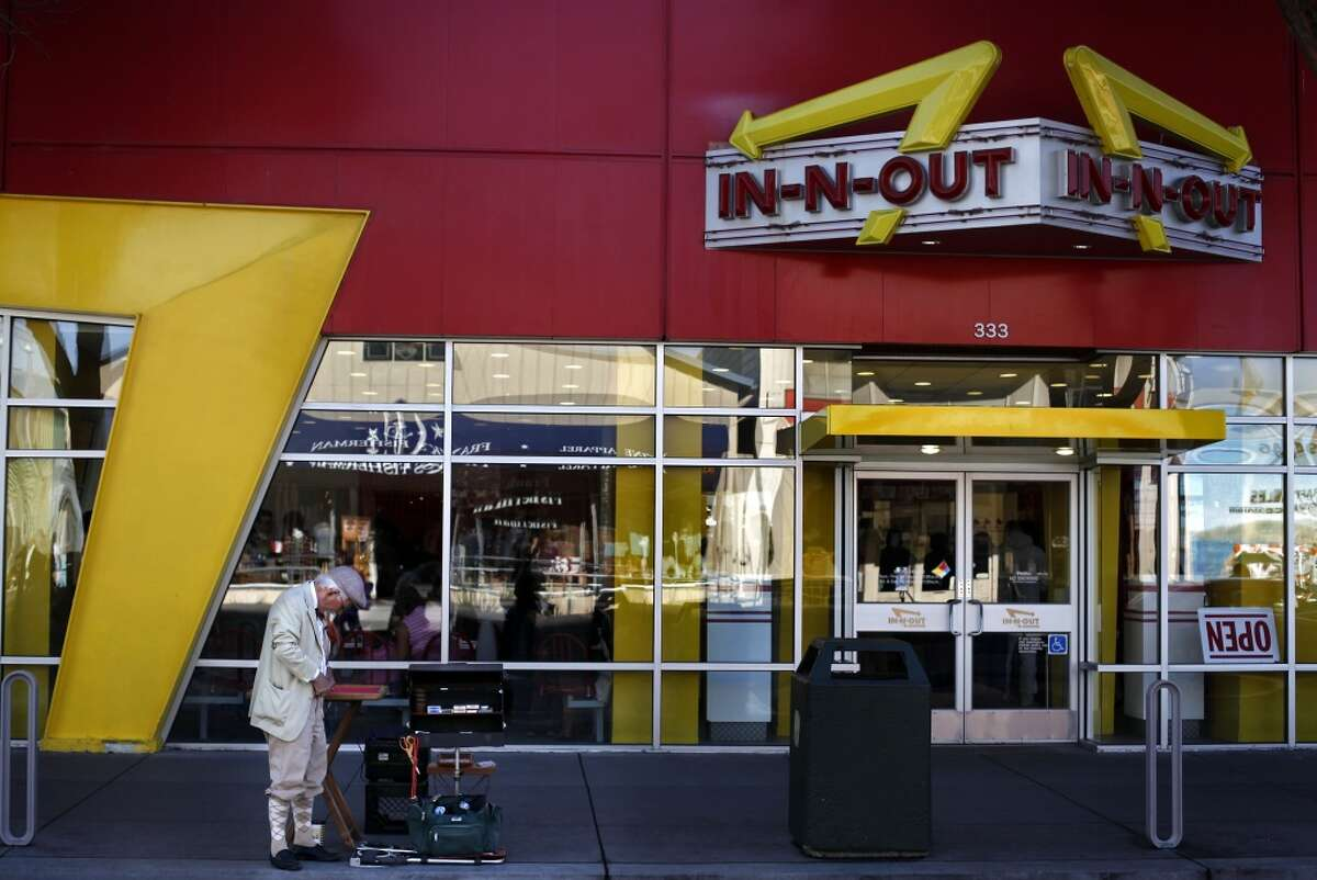 An In-N-Out somewhere between Fisherman's Wharf and Daly City.
