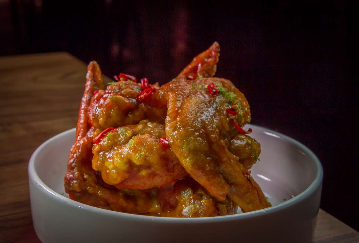 The Pretty Hot Wings at Kin Khao in San Francisco.