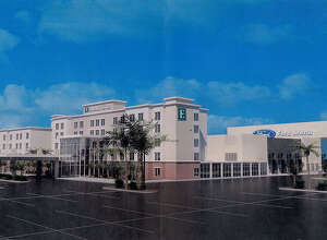 An artist rendering of the proposed Embassy Suites to be constructed at Ford Park. The hotel is part of a joint deal with a developer who intends to build a water park on the same property.  Photo provided by Fred Jackson