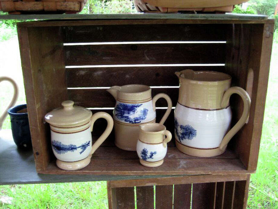 Reggie DeLarm, of East Knoll Pottery, will set up her potterís wheel at the Newtown Historical Society's headquarters in Newtown on Sunday, May 18, to demonstrate the art of making hand-thrown yellowware pottery. Photo: Contributed Photo / The News-Times Contributed
