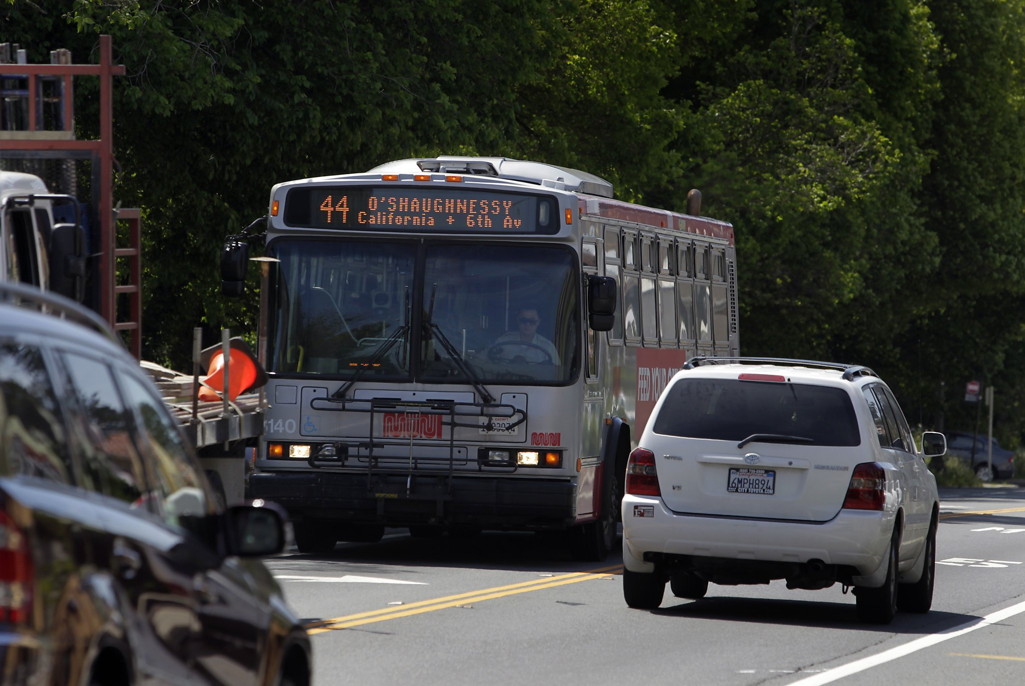 The 44 Ou0027Shaughnessy Bus winds through
