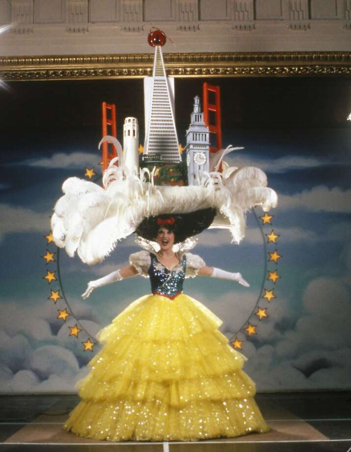 Beach Blanket Babylon's 40th anniversary is being marked with an exhibition around the Bay Area of the massive hats worn by actors and singers in the long-running musical revue. Photo: Courtesy Beach Blanket Babylon