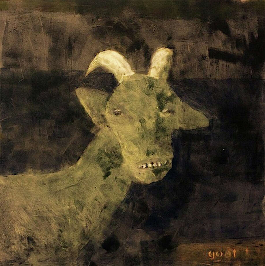 """GOat #1"" is one of more than 50 works on display by Malcolm Moran in the exhibition ""The Beast and His Keeper,"" which runs through May 25, 2014, at the Center for Contemporary Printmaking in Norwalk, Conn. Photo: Contributed Photo / Stamford Advocate Contributed"