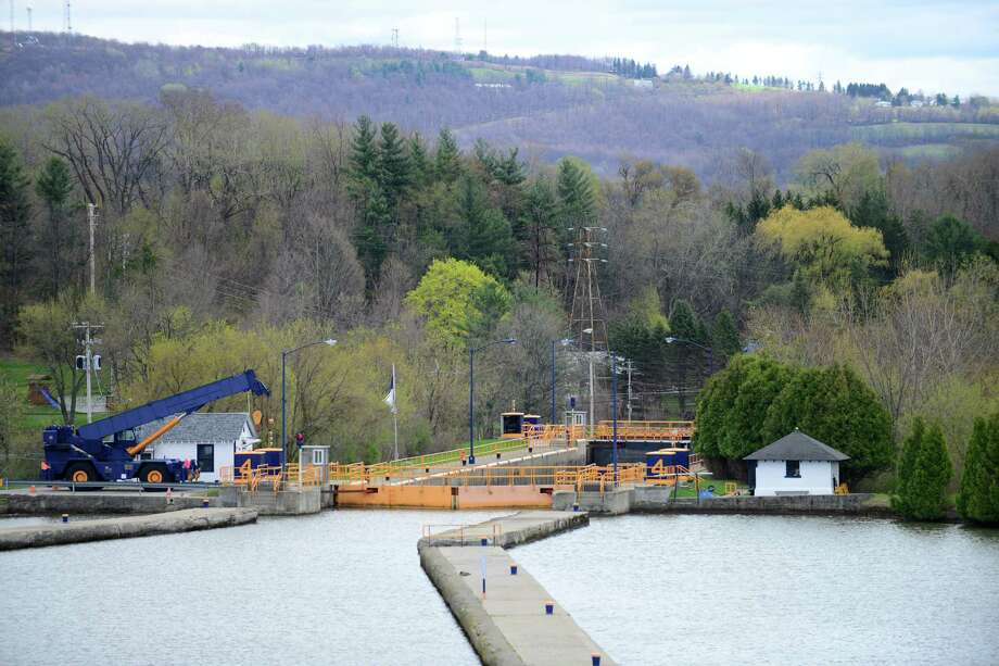 View of Lock 4 looking east Monday, May, 5, 2014, in Waterford, N.Y. The State Canal System opened for the season Monday. (Will Waldron/Times Union) Photo: WW / 00026761A