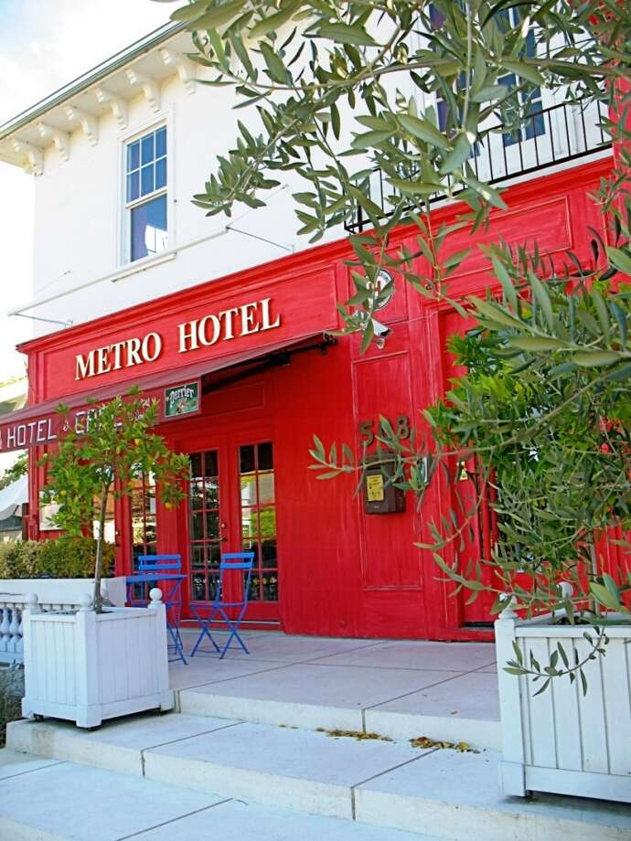 "Metro Hotel & Cafe, Petaluma On its website, the Metro Hotel is billed as ""A little trip to Paris in Sonoma County,"" and this quirky boutique hotel and its cafe are certainly tres charming. From its shabby chic cottage (a separate property) to its Airstream ""guest houses,"" the Metro is for folks looking for a quaint North Bay stay.  Photo: Stephanie Wright Hession, Special To The Chronicle"
