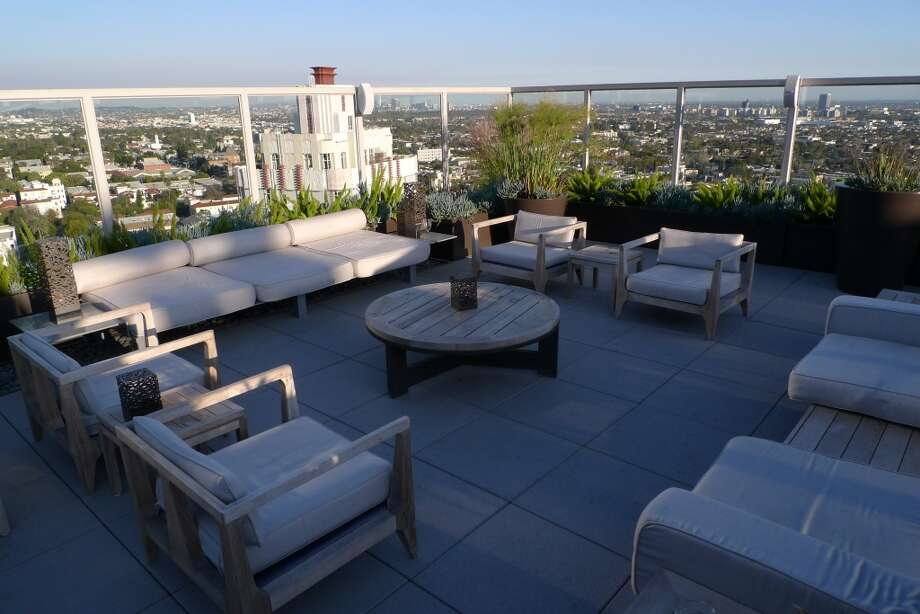 Andaz West Hollywood, Hollywood The ultra-modern hotel has views of the Sunset Strip particularly enjoyable from the roof deck, which is centered around a pool with  sleek cabanas and lounge seating. So Hollywood. Photo: Spud Hilton, The Chronicle
