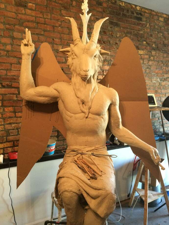 This is an earlier rendition of the statue planned for Oklahoma. Photo: The Satanic Temple