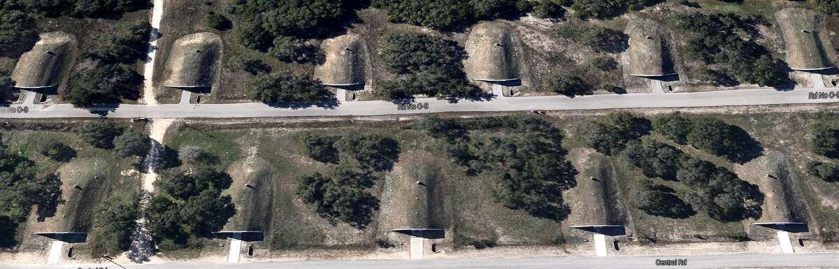 Bunkers at Camp Stanley (Google Maps)