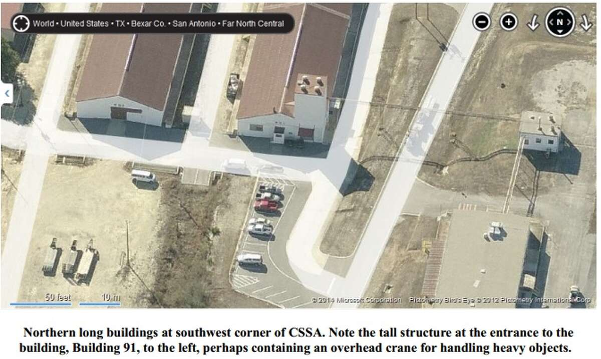 Satellite images of Camp Stanley published by retired CIA official Allen Thomson.