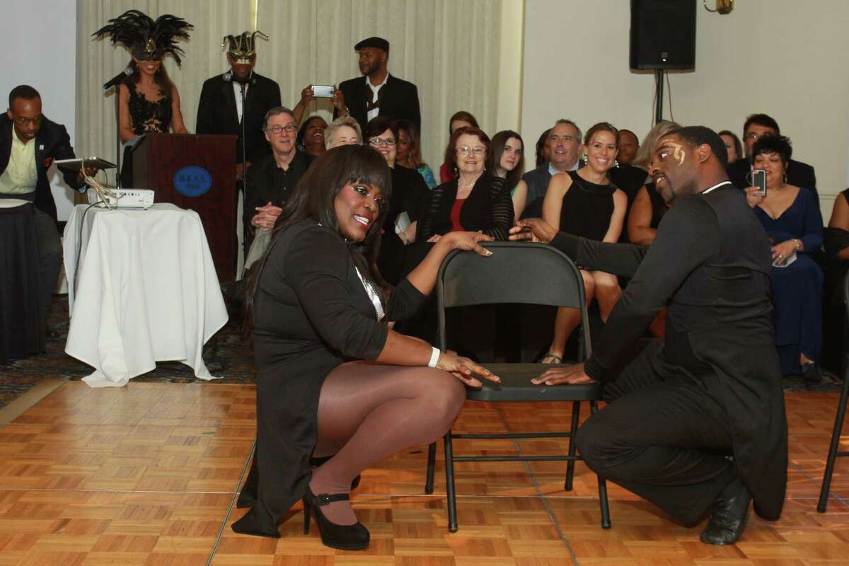 """Nakia Cooper and dance partner Donnie Johnson show their winning moves at the Urban Souls Dance Company's fourth annual charity gala and fundraiser """"Dancing With the Houston Stars."""""""
