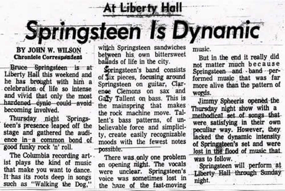"Here's a review of one of the Liberty Hall shows from the Houston Chronicle archives. It was described as a ""a celebration of life so intense and vivid that only the most hardened cynic could avoid becoming involved,"" which means the reviewer probably met a girl at the show."