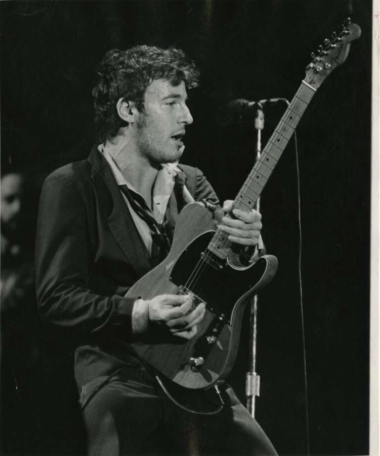 A photo from a December 8, 1978 Bruce Springsteen concert at The Summit. Photo: Houston Chronicle
