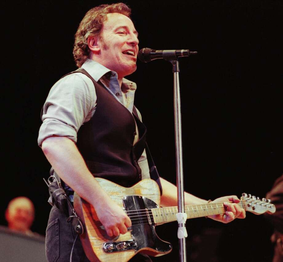 Bruce Sprinsteen performs with the E Street Band in front of a sold-out audience of 15,000 at the Bryce Jordan Center Monday, Feb. 28, 2000, in State College, Pa. (AP Photo/Centre Daily Times, Pat Little)  HOUCHRON CAPTION (04/13/2000):  Next week, Bruce Springsteen, below, and his reunited E Street Band play Houston for the first time since 1988. For what to expect from a 50-year-old Boss, see Zest.   HOUCHRON CAPTION (06/09/2000):  Springsteen. Photo: AP