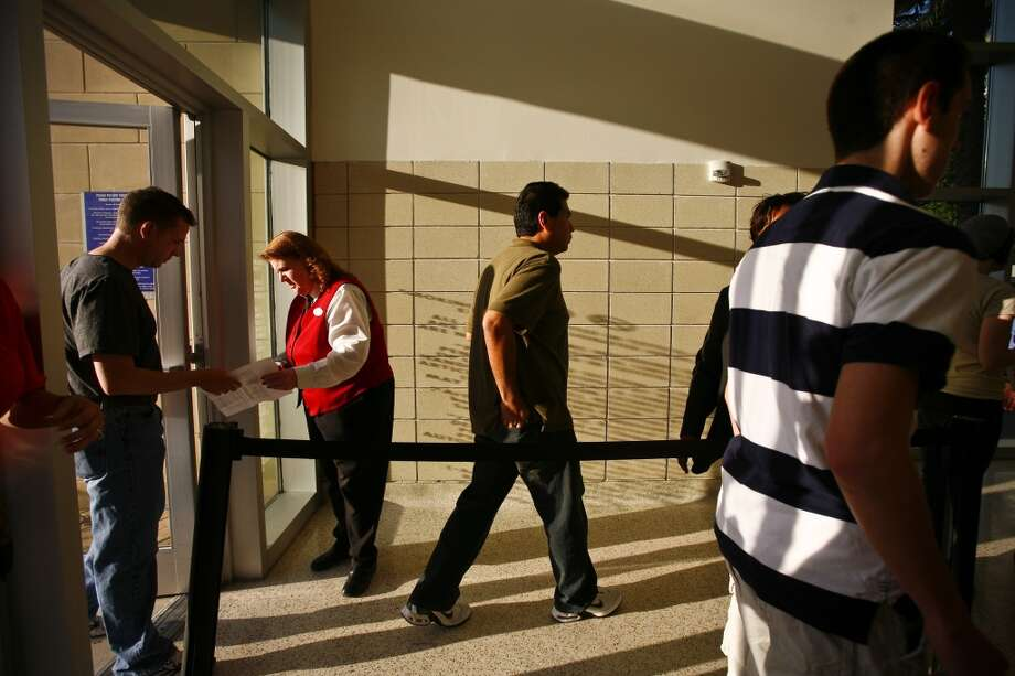 Concert tickets are checked before the start of the Bruce Springsteen performance at theToyota Center Wednesday, April 8, 2009, in Houston. Photo: Michael Paulsen, Houston Chronicle