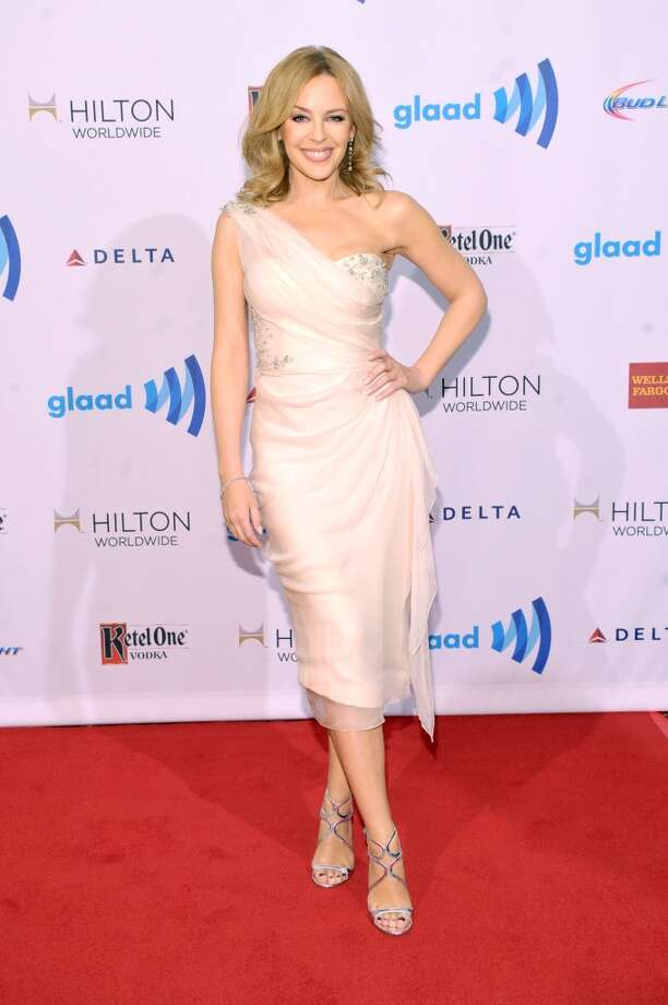 Singer Kylie Minogue attends the 25th Annual GLAAD Media Awards on May 3, 2014 in New York City. Photo: Stephen Lovekin, Getty Images For GLAAD