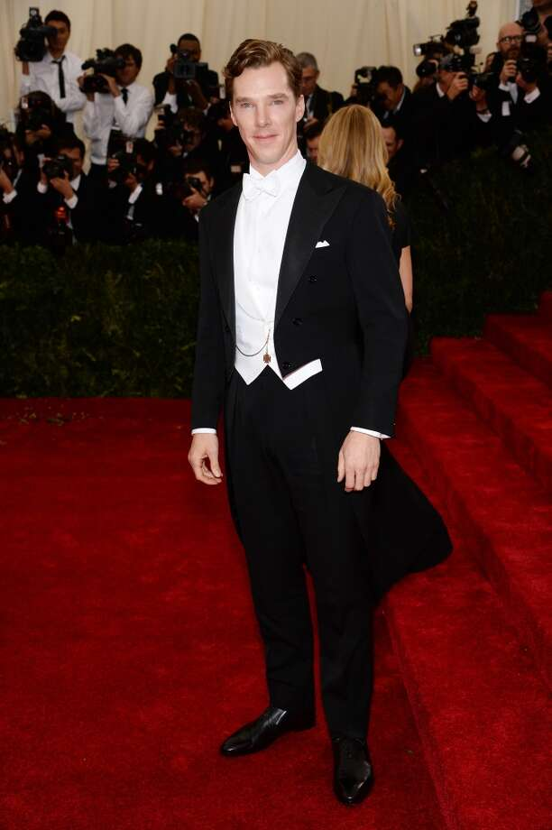 "Actor Benedict Cumberbatch attends the ""Charles James: Beyond Fashion"" Costume Institute Gala at the Metropolitan Museum of Art on May 5, 2014 in New York City. Photo: Dimitrios Kambouris, Getty Images"