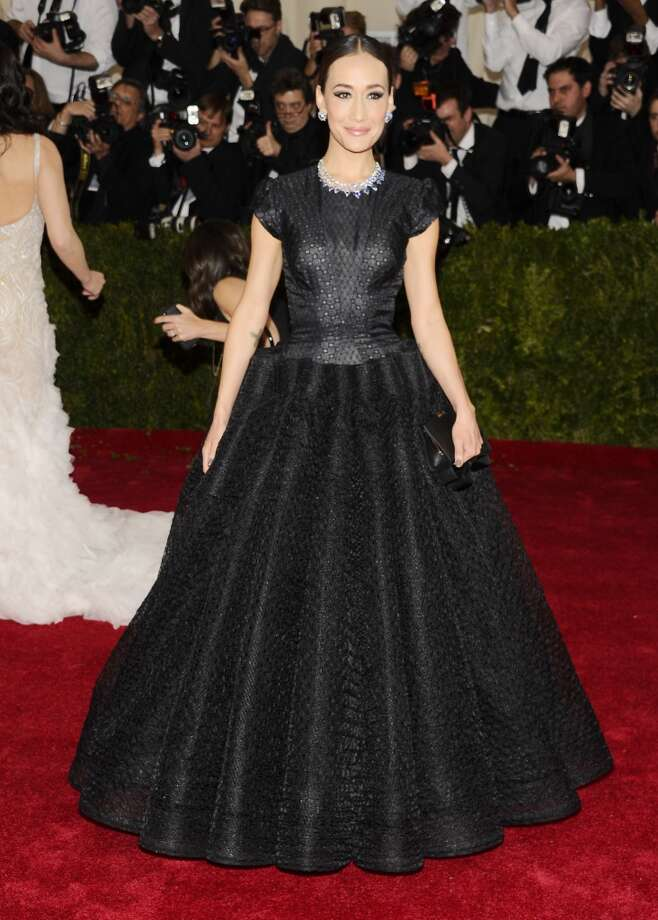 """Maggie Q attends The Metropolitan Museum of Art's Costume Institute benefit gala celebrating """"Charles James: Beyond Fashion"""" on Monday, May 5, 2014, in New York. (Photo by Charles Sykes/Invision/AP) Photo: Charles Sykes, Associated Press"""