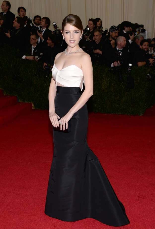 "Anna Kendrick attends The Metropolitan Museum of Art's Costume Institute benefit gala celebrating ""Charles James: Beyond Fashion"" on Monday, May 5, 2014, in New York. (Photo by Evan Agostini/Invision/AP) Photo: Evan Agostini, Associated Press"