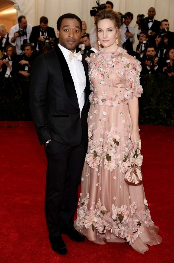 "Chiwetel Ejiofor and Sari Mercer attend the ""Charles James: Beyond Fashion"" Costume Institute Gala at the Metropolitan Museum of Art on May 5, 2014 in New York City. Photo: Dimitrios Kambouris, Getty Images"