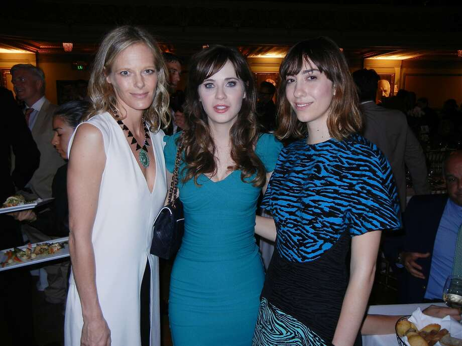 Katie Traina (left), Zooey Deschanel and filmmaker Gia Coppola at S.F. Film Society's Awards Night. Photo: Catherine Bigelow, Special To The Chronicle