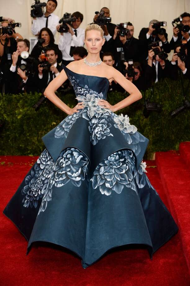 "Model Karolina Kurkova attends the ""Charles James: Beyond Fashion"" Costume Institute Gala at the Metropolitan Museum of Art on May 5, 2014 in New York City. Photo: Dimitrios Kambouris, Getty Images"