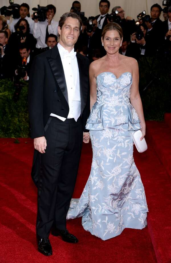"Eric Zinterhofer (L) and Aerin Lauder attend the ""Charles James: Beyond Fashion"" Costume Institute Gala at the Metropolitan Museum of Art on May 5, 2014 in New York City. Photo: Dimitrios Kambouris, Getty Images"