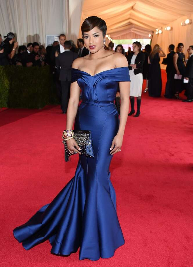 """TV personality Alicia Quarles attends the """"Charles James: Beyond Fashion"""" Costume Institute Gala at the Metropolitan Museum of Art on May 5, 2014 in New York City. Photo: Larry Busacca, Getty Images"""