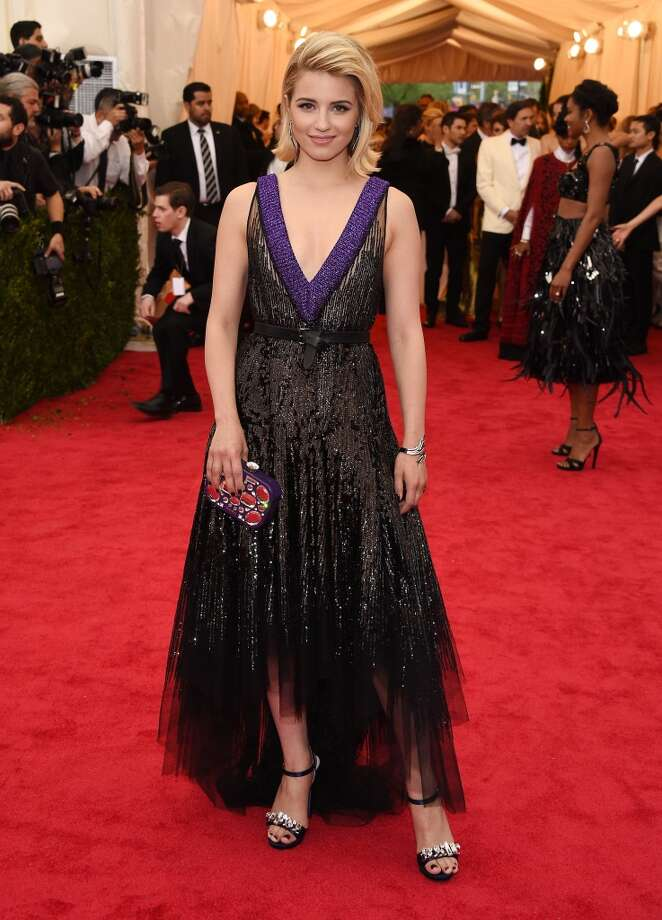 """Actress Dianna Agron attends the """"Charles James: Beyond Fashion"""" Costume Institute Gala at the Metropolitan Museum of Art on May 5, 2014 in New York City. Photo: Larry Busacca, Getty Images"""