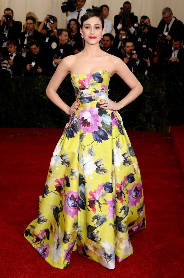 "Actress Emmy Rossum attends the ""Charles James: Beyond Fashion"" Costume Institute Gala at the Metropolitan Museum of Art on May 5, 2014 in New York City. Photo: Dimitrios Kambouris, Getty Images"