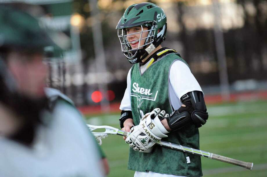 Shen's Pete Sacks during lacrosse practice on Friday, May 2, 2014, at Shenendehowa High in Clifton Park, N.Y. (Cindy Schultz / Times Union) Photo: Cindy Schultz / 00026717A