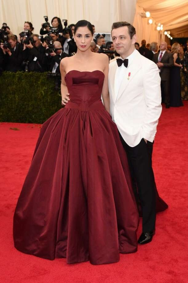 """Sarah Silverman and Michael Sheen attend the """"Charles James: Beyond Fashion"""" Costume Institute Gala at the Metropolitan Museum of Art on May 5, 2014 in New York City. Photo: Larry Busacca, Getty Images"""