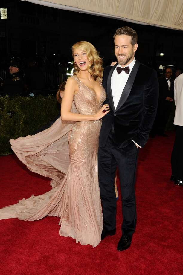 "Blake Lively and Ryan Reynolds attend The Metropolitan Museum of Art's Costume Institute benefit gala celebrating ""Charles James: Beyond Fashion"" on Monday, May 5, 2014, in New York. Photo: Charles Sykes, Associated Press"
