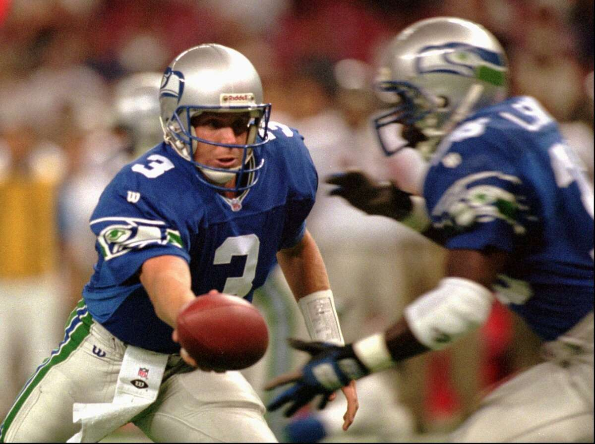 Seahawks draft QB Rick Mirer second overall in 1993  Rick Mirer was very disappointing. In four seasons with the Seahawks, he had a 20-31 record as a starter. He threw for 41 touchdowns and 56 interceptions in that time, including a 53.4 percent completion rate and a 65.2 passer rating.