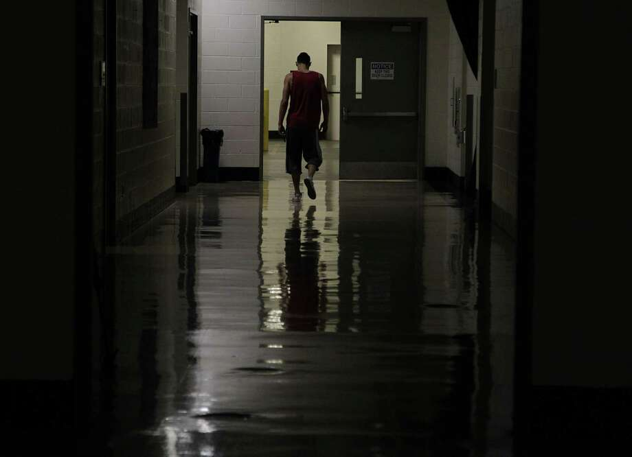 Knowing how they exited the playoffs brought a lonely feeling for Jeremy Lin and the rest of the players leaving Toyota Center on Monday. Photo: James Nielsen, Staff / © 2014  Houston Chronicle