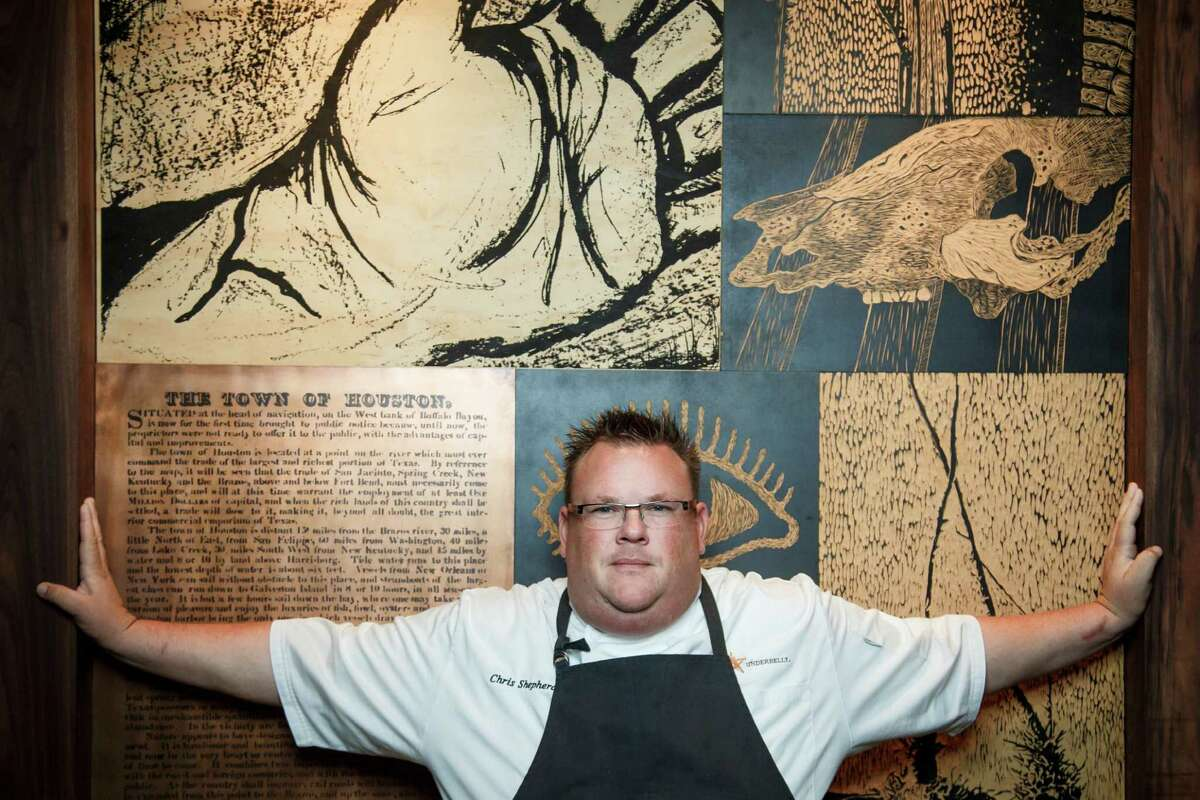 Chris Shepherd poses for a photo in his restaurant Underbelly, Monday, April 22, 2013, in Houston. Shepherd is a nominee for best chef Southwest for the 2013 James Beard Foundation awards on May 6. ( Michael Paulsen / Houston Chronicle )
