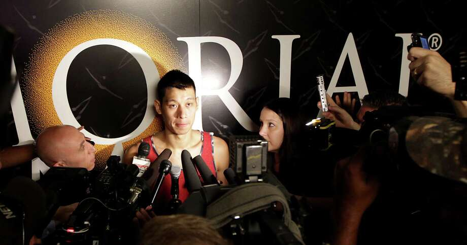 "Guard Jeremy Lin talked about a season that contained ""a lot of good things, a lot of bad things"" after the Rockets conducted exit interviews Monday at Toyota Center. Photo: James Nielsen, Staff / © 2014  Houston Chronicle"