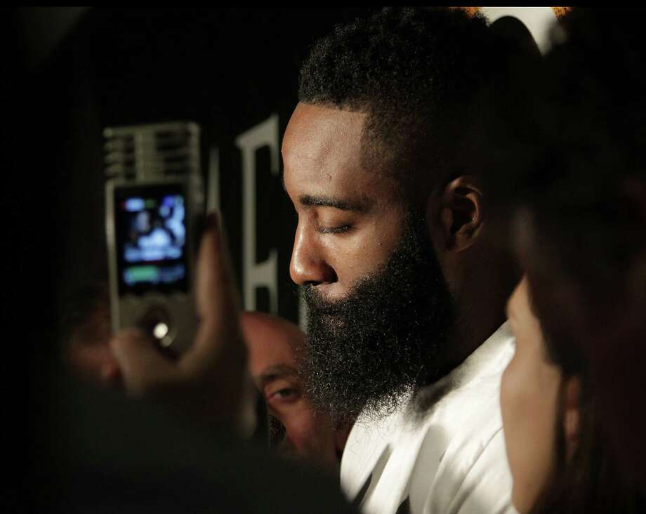 James Harden believes he has the talent to be a better defensive player and vows to work on his focus at that end of the floor. Photo: James Nielsen, Staff / © 2014  Houston Chronicle