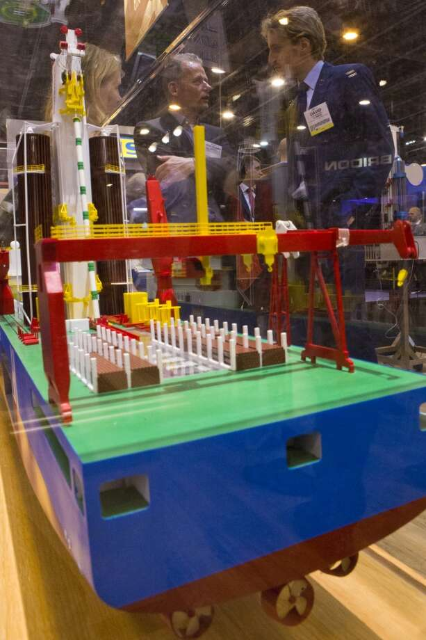 Huisman Equipement Huisdrill 12000 drill ship model exhibited at the 2014 Offshore Technology Conference, Monday, May 5, 2014, in Houston. ( Marie D. De Jesus / Houston Chronicle ) Photo: Marie D. De Jesus, Houston Chronicle
