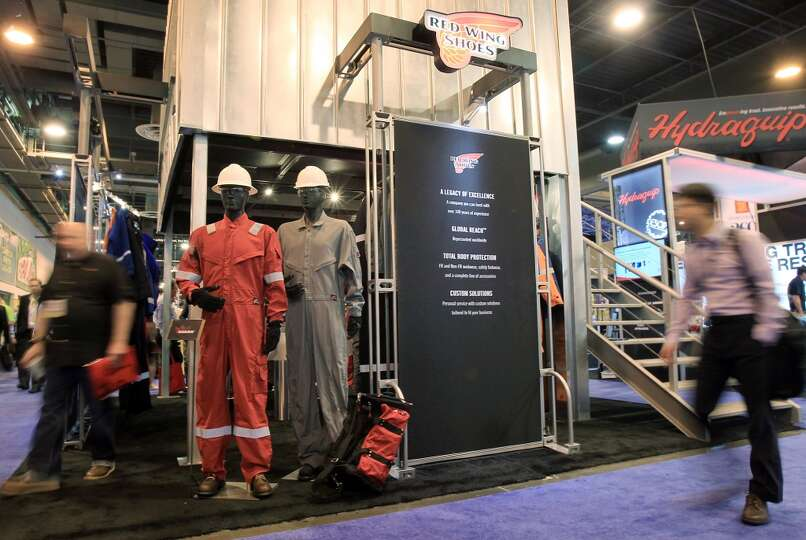 The Red Wing Shoes booth in the Offshore Technology Conference at NRG Park on May 5, 2014, in Housto
